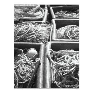 Cajas laterales del puerto de cuerdas invitacion personalizada