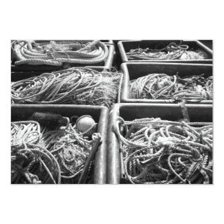 Cajas laterales del puerto de cuerdas invitaciones personalizada