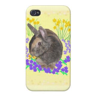 Cajas lindas de la foto iphone4 del conejo iPhone 4 carcasa