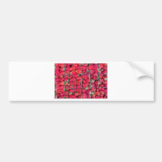 Cajas llenadas de las fresas rojas pegatina para auto