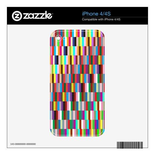 Cajas mezcladas de los cuadrados skins para iPhone 4