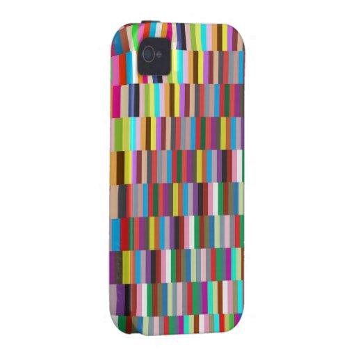 Cajas mezcladas de los cuadrados vibe iPhone 4 funda