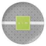 Cajas modernas grises con la placa de la melamina  platos de comidas