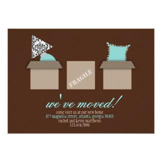 Cajas móviles elegantes que mueven la invitación