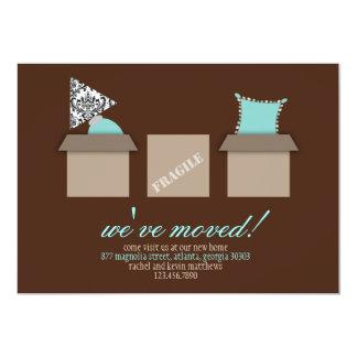 Cajas móviles elegantes que mueven la invitación invitación 12,7 x 17,8 cm