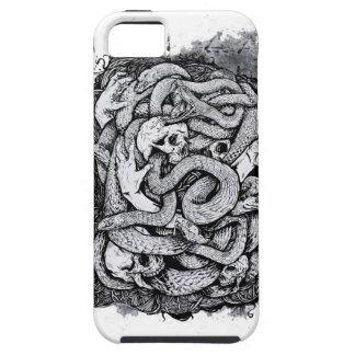 Cajas negras de la serpiente iPhone 5 carcasas