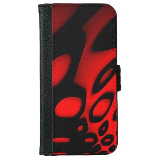 Cajas negras rojas brillantes de la cartera del funda cartera para iPhone 6