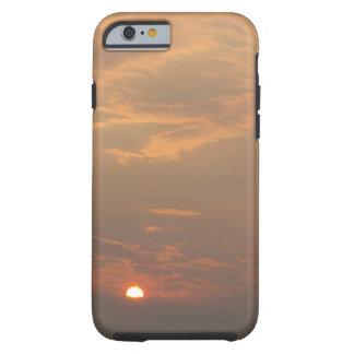 Cajas nubladas del teléfono de la puesta del sol funda para iPhone 6 tough