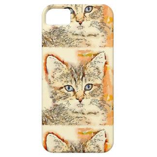 Cajas observadas azul del teléfono del gatito iPhone 5 fundas