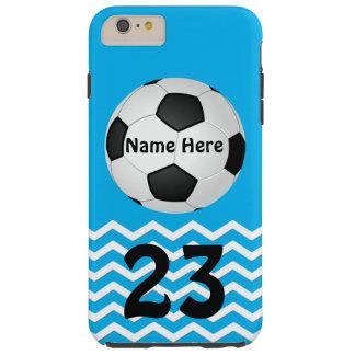 Cajas personalizadas del iPhone del fútbol para Funda Para iPhone 6 Plus Tough