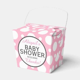 Cajas personalizadas lunar rosado del favor de la cajas para regalos de fiestas