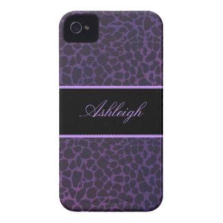 Cajas púrpuras del iPhone 4s de la identificación  Case-Mate iPhone 4 Protectores
