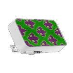 Cajas púrpuras y verdes del teléfono de la flor de PC altavoces