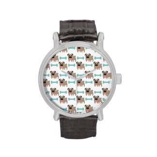 Cajas queridas del barro amasado y del hueso, rega relojes de pulsera