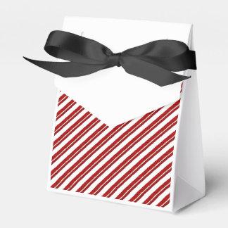 Cajas rayadas del favor del bastón de caramelo de cajas para regalos