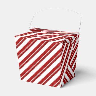 Cajas rayadas del favor del bastón de caramelo de cajas para regalos de fiestas