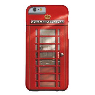 Cajas rojas británicas del personalizado de la funda para iPhone 6 barely there