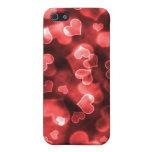 Cajas rojas femeninas del corazón iPhone 5 fundas