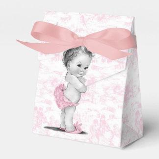 Cajas rosadas del favor de la fiesta de bienvenida caja para regalos de fiestas