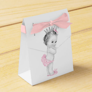 Cajas rosadas del favor de la princesa fiesta de cajas para detalles de boda