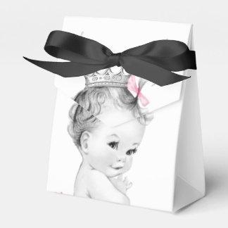 Cajas rosadas del favor de la princesa fiesta de cajas para regalos