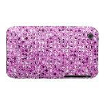 Cajas rosadas del teléfono del efecto de la lentej iPhone 3 funda