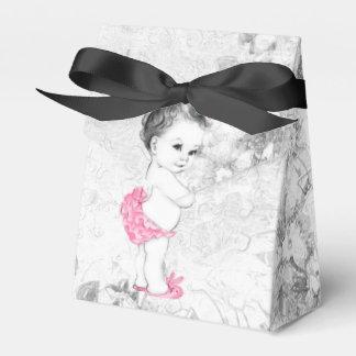 Cajas rosadas y grises dulces del favor de la cajas para regalos