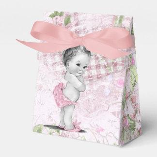 Cajas rosadas y verdes dulces del favor de la cajas para detalles de boda