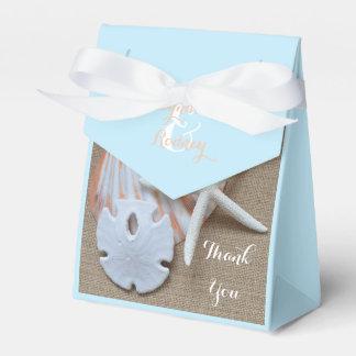 Cajas temáticas del favor del boda de la playa cajas para regalos de fiestas