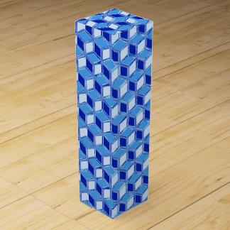 Cajas tridimensionales del cromo - azul de cobalto cajas para botellas de vino