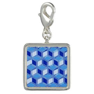 Cajas tridimensionales del cromo - azul de cobalto dije