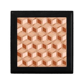 Cajas tridimensionales del cromo - cobre coloreado cajas de recuerdo