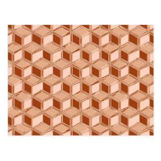 Cajas tridimensionales del cromo - cobre coloreado tarjetas postales