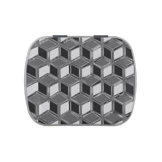 Cajas tridimensionales del cromo - gris del latas de caramelos