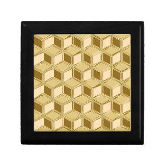 Cajas tridimensionales del cromo - oro coloreado caja de joyas