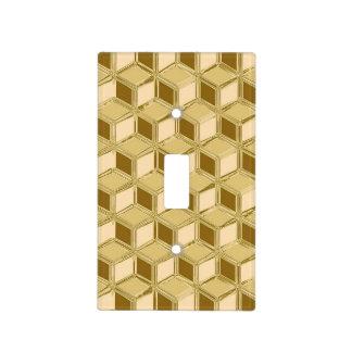 Cajas tridimensionales del cromo - oro coloreado tapa para interruptor