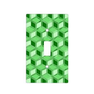 Cajas tridimensionales del cromo - verde esmeralda cubiertas para interruptor