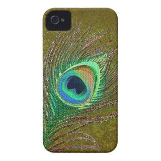 Cajas verdes adornadas de Blackberry de la pluma Case-Mate iPhone 4 Fundas