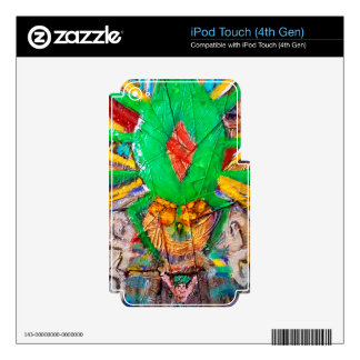 Cajas verdes de la reina iPod de la araña del iPod Touch 4G Calcomanía