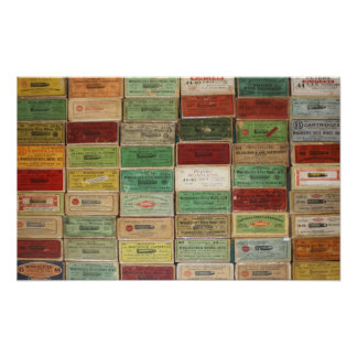 Cajas viejas de Shotshell Póster