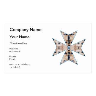 Cajas y cruz del caleidoscopio de los ojos azules tarjetas de visita