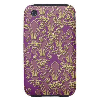 Cajas y cubierta del teléfono de la flor de lis de iPhone 3 tough protectores