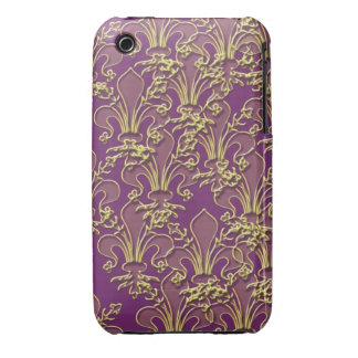 Cajas y cubierta del teléfono de la flor de lis de Case-Mate iPhone 3 carcasas