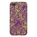 Cajas y cubierta del teléfono de la flor de lis de iPhone 4 protectores
