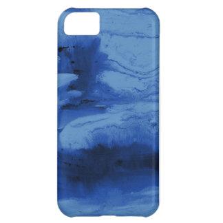 Cajas y cubiertas azules del teléfono de la acuare funda para iPhone 5C