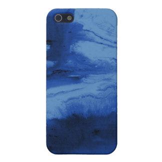Cajas y cubiertas azules del teléfono de la acuare iPhone 5 fundas