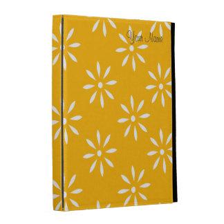 Cajas y pieles de las flores amarillas y blancas d