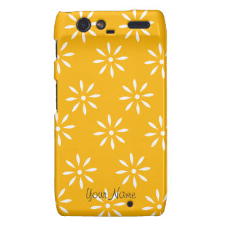 Cajas y pieles de las flores amarillas y blancas d motorola droid RAZR carcasas