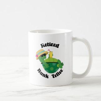 Cajero de banco jubilado (tortuga) tazas de café