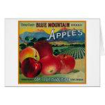Cajón azul LabelCove de Apple de la montaña, O Felicitación